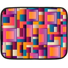 Abstract Background Geometry Blocks Double Sided Fleece Blanket (mini)  by Simbadda