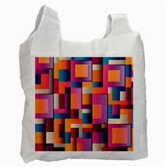 Abstract Background Geometry Blocks Recycle Bag (one Side) by Simbadda