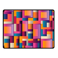 Abstract Background Geometry Blocks Fleece Blanket (small) by Simbadda