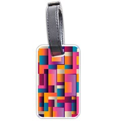 Abstract Background Geometry Blocks Luggage Tags (one Side)  by Simbadda