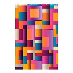 Abstract Background Geometry Blocks Shower Curtain 48  X 72  (small)  by Simbadda