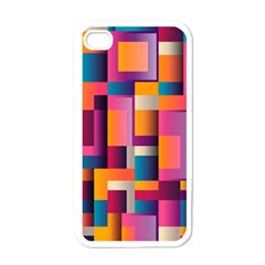 Abstract Background Geometry Blocks Apple Iphone 4 Case (white) by Simbadda