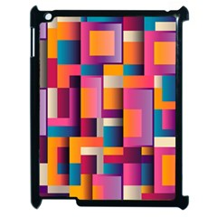 Abstract Background Geometry Blocks Apple Ipad 2 Case (black) by Simbadda