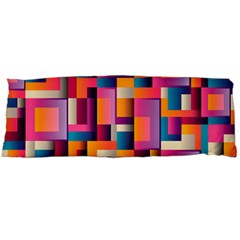 Abstract Background Geometry Blocks Body Pillow Case Dakimakura (two Sides) by Simbadda