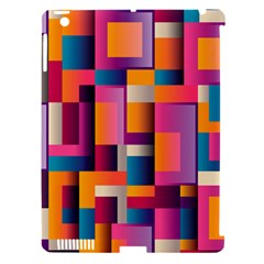 Abstract Background Geometry Blocks Apple Ipad 3/4 Hardshell Case (compatible With Smart Cover) by Simbadda