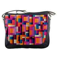 Abstract Background Geometry Blocks Messenger Bags by Simbadda