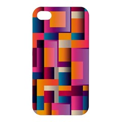Abstract Background Geometry Blocks Apple Iphone 4/4s Premium Hardshell Case by Simbadda