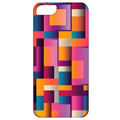 Abstract Background Geometry Blocks Apple Iphone 5 Classic Hardshell Case by Simbadda