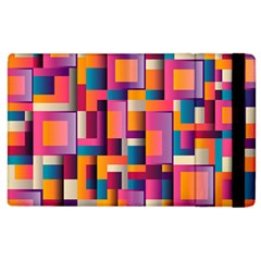 Abstract Background Geometry Blocks Apple Ipad 3/4 Flip Case by Simbadda