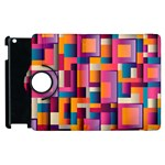 Abstract Background Geometry Blocks Apple iPad 2 Flip 360 Case Front