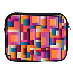 Abstract Background Geometry Blocks Apple Ipad 2/3/4 Zipper Cases by Simbadda