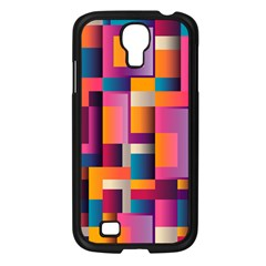 Abstract Background Geometry Blocks Samsung Galaxy S4 I9500/ I9505 Case (black) by Simbadda
