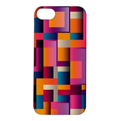 Abstract Background Geometry Blocks Apple Iphone 5s/ Se Hardshell Case by Simbadda