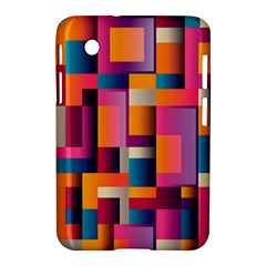 Abstract Background Geometry Blocks Samsung Galaxy Tab 2 (7 ) P3100 Hardshell Case  by Simbadda