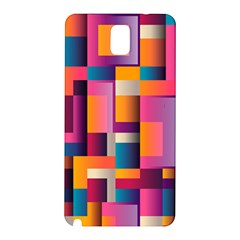 Abstract Background Geometry Blocks Samsung Galaxy Note 3 N9005 Hardshell Back Case