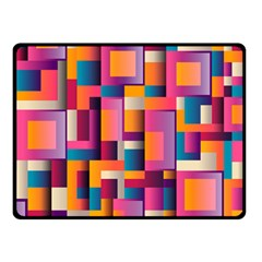 Abstract Background Geometry Blocks Double Sided Fleece Blanket (small)  by Simbadda