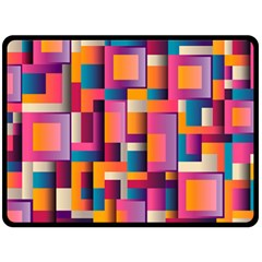 Abstract Background Geometry Blocks Double Sided Fleece Blanket (large)  by Simbadda