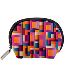 Abstract Background Geometry Blocks Accessory Pouches (small)  by Simbadda
