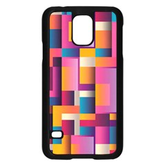 Abstract Background Geometry Blocks Samsung Galaxy S5 Case (black) by Simbadda