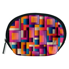 Abstract Background Geometry Blocks Accessory Pouches (medium)  by Simbadda