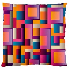 Abstract Background Geometry Blocks Large Flano Cushion Case (one Side) by Simbadda