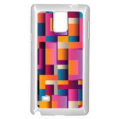 Abstract Background Geometry Blocks Samsung Galaxy Note 4 Case (white) by Simbadda