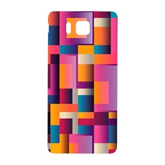 Abstract Background Geometry Blocks Samsung Galaxy Alpha Hardshell Back Case