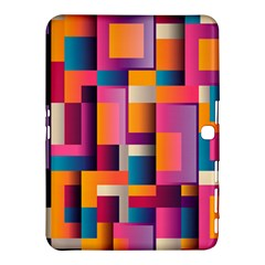 Abstract Background Geometry Blocks Samsung Galaxy Tab 4 (10 1 ) Hardshell Case  by Simbadda