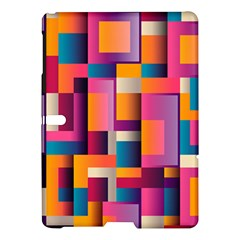 Abstract Background Geometry Blocks Samsung Galaxy Tab S (10 5 ) Hardshell Case  by Simbadda