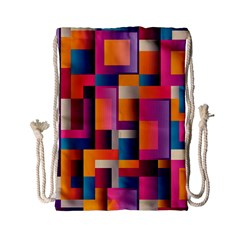 Abstract Background Geometry Blocks Drawstring Bag (small) by Simbadda