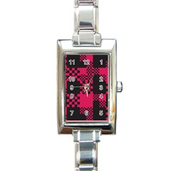Cube Square Block Shape Creative Rectangle Italian Charm Watch by Simbadda