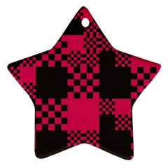 Cube Square Block Shape Creative Ornament (star)