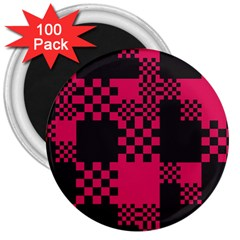 Cube Square Block Shape Creative 3  Magnets (100 Pack)