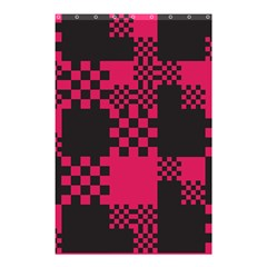 Cube Square Block Shape Creative Shower Curtain 48  X 72  (small)  by Simbadda