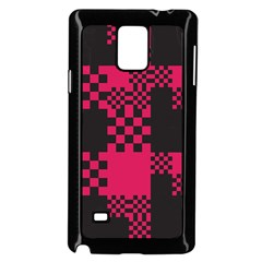 Cube Square Block Shape Creative Samsung Galaxy Note 4 Case (black) by Simbadda