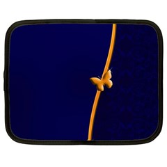 Greeting Card Invitation Blue Netbook Case (large) by Simbadda
