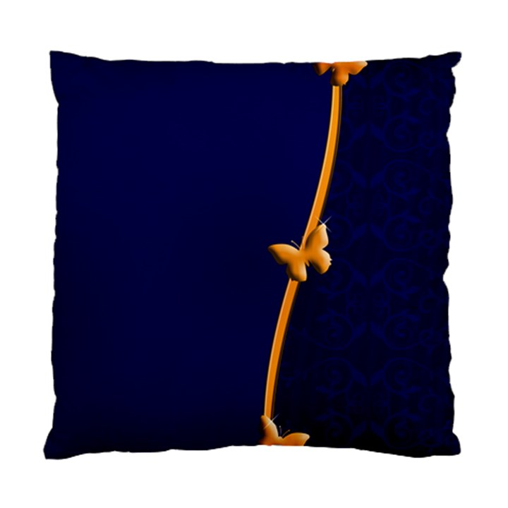 Greeting Card Invitation Blue Standard Cushion Case (One Side)