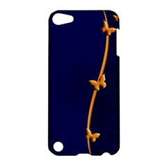 Greeting Card Invitation Blue Apple Ipod Touch 5 Hardshell Case by Simbadda