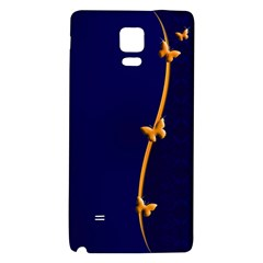 Greeting Card Invitation Blue Galaxy Note 4 Back Case by Simbadda
