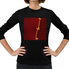 Greeting Card Invitation Red Women s Long Sleeve Dark T Shirts by Simbadda