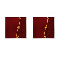 Greeting Card Invitation Red Cufflinks (square) by Simbadda