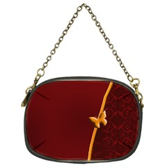 Greeting Card Invitation Red Chain Purses (one Side)  by Simbadda