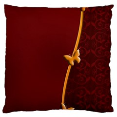Greeting Card Invitation Red Large Cushion Case (two Sides) by Simbadda