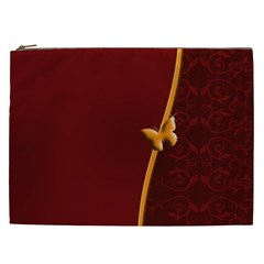 Greeting Card Invitation Red Cosmetic Bag (xxl)  by Simbadda
