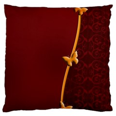 Greeting Card Invitation Red Large Flano Cushion Case (one Side) by Simbadda