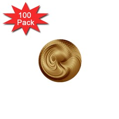 Gold Background Texture Pattern 1  Mini Buttons (100 Pack)  by Simbadda