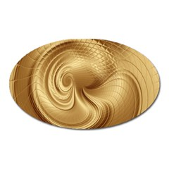 Gold Background Texture Pattern Oval Magnet by Simbadda