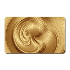 Gold Background Texture Pattern Magnet (rectangular) by Simbadda