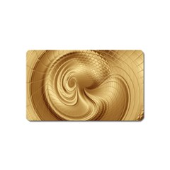 Gold Background Texture Pattern Magnet (name Card) by Simbadda