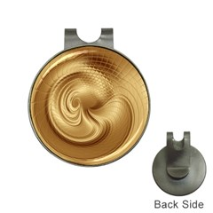 Gold Background Texture Pattern Hat Clips With Golf Markers by Simbadda